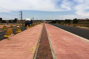 Construction of dedicated BRT lanes is well under way