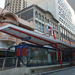 The busiest station in the CBD is at Carlton Centre