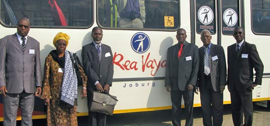 Delegates were impressed by the efficiency of Rea Vaya