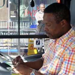 Former taxi drivers are now accomplished bus drivers