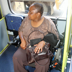Rea Vaya buses have space for wheelchair users
