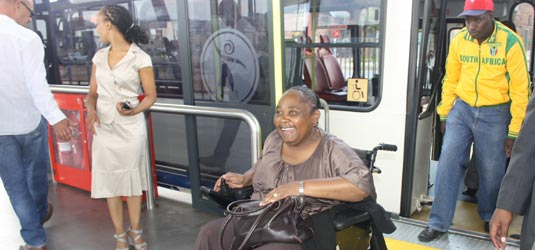 Rea Vaya caters for commuters with disabilities