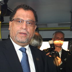 Organising Committee chief executive officer Danny Jordaan used Rea Vaya