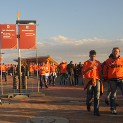 Fans arriving at Soccer City via Rea Vaya